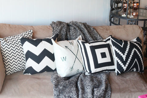Chevron/Compass Pillow Covers