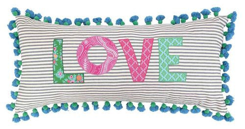 Large Love Pom Pillow