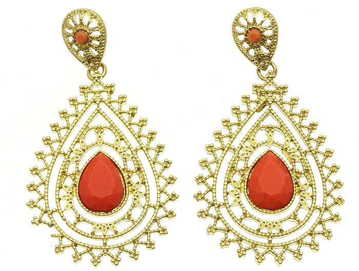 Cool Coral Earrings
