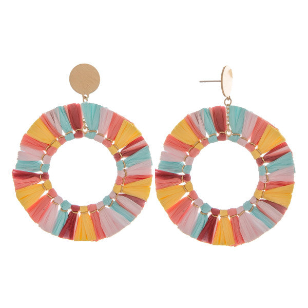 Lolli Tassel Round Earrings