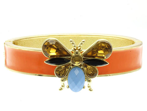 Orange Butterfly Bangle
