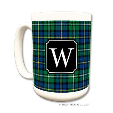 Personalized Mug - Black Watch Plaid