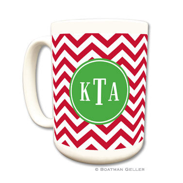 Personalized Mug - Red Chevron