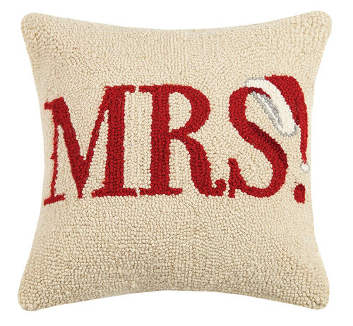 Mrs. Santa Hat Hook Pillow