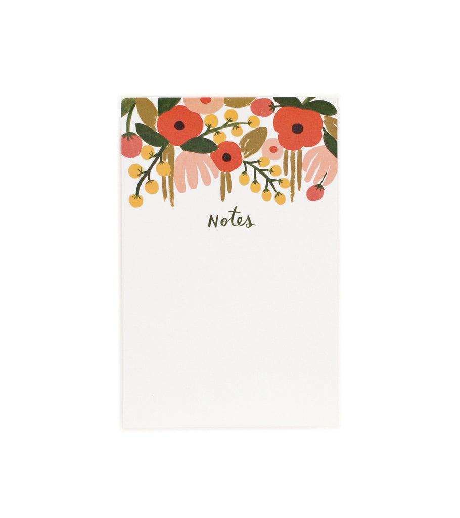 Hanging Floral Notepad