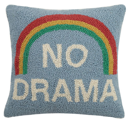 """No Drama"" Rainbow Hook Pillow"