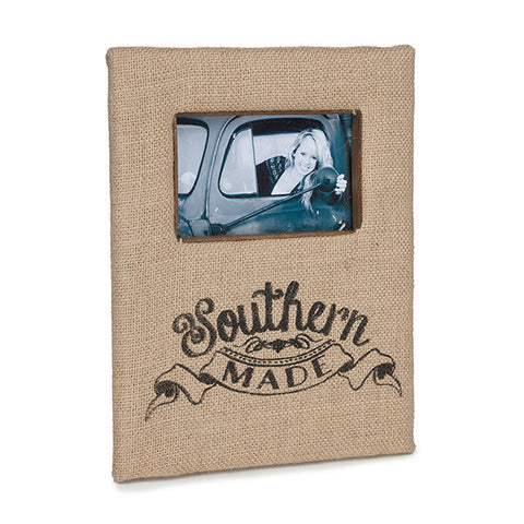 Southern Made Burlap Picture Frame