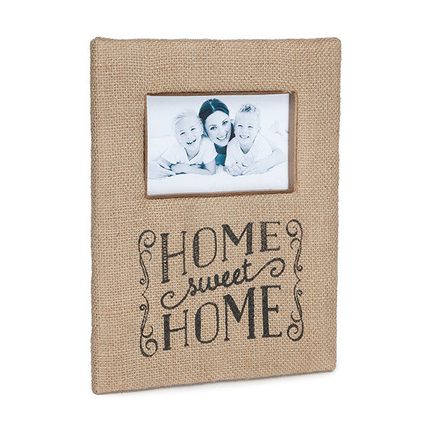 Home Sweet Home Burlap Picture Frame