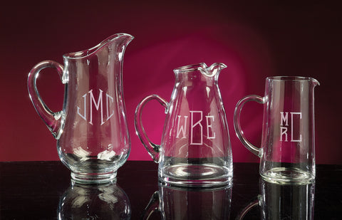 Personalized Crystal Pitchers