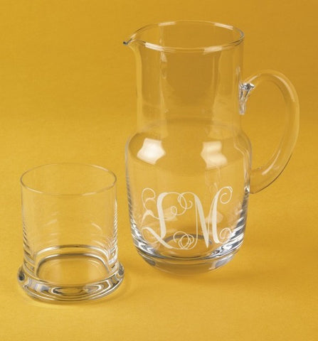 Personalized Bedside Set - Glass & Pitcher
