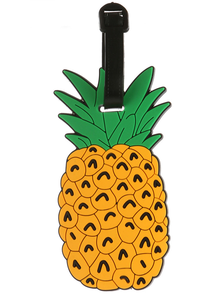 Rubber Luggage Tag - Pineapple