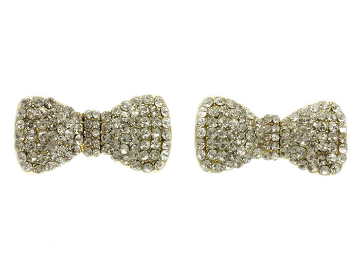 Pave Bow Earrings