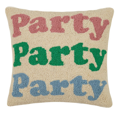 Party Party Party Hook Pillow