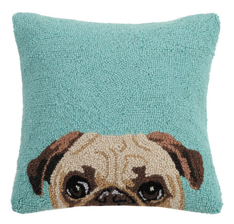 Pug Hook Pillow
