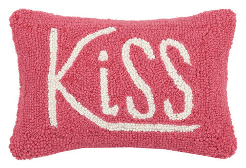 "Pink ""Kiss"" Hook Pillow"