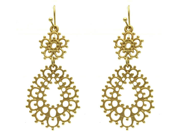 Gold Tracks Earrings