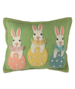 Bunny in Eggs Pillow