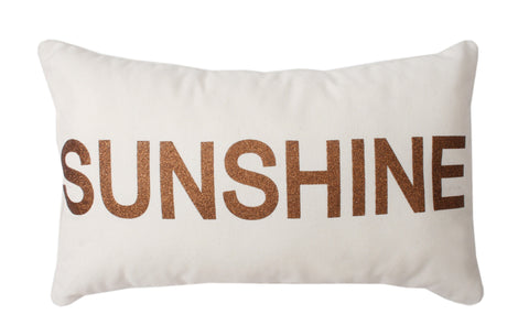 "Glitter ""Sunshine"" Pillow"
