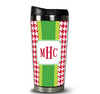 Stainless Steel Tumbler - Alex Houndstooth Red