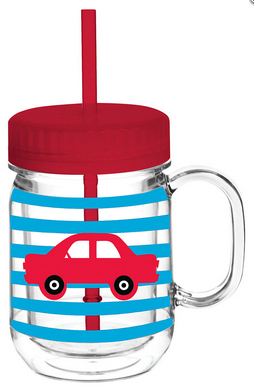 Striped Car Double Wall Mason Tumbler