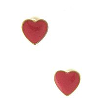 Tiny Red Heart Earrings