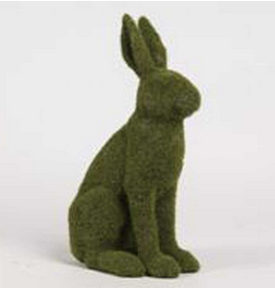 Tall Sitting Moss Bunny