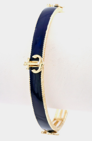 Anchor Bangle - Navy