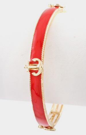 Anchor Bangle - Red