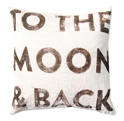 Large Letter To The Moon & Back Pillow
