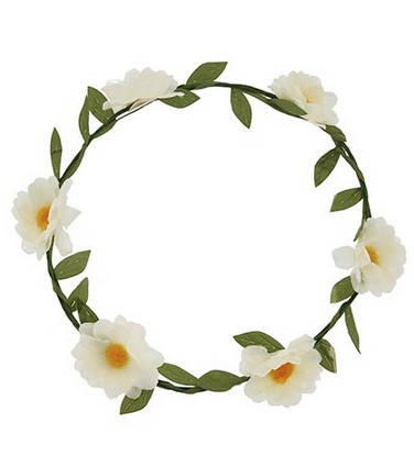 Floral Flying Head Wreath