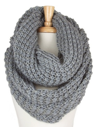 Full Fun Infinity Scarf - Grey