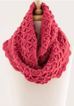 Flower Trails Infinity Scarf - Pinkish