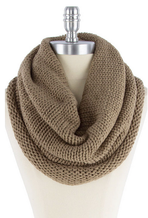 Fairmont Infinity Scarf - Taupe