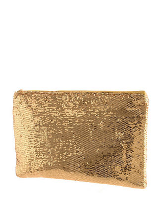 Sequin Clutch - Gold