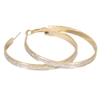 Sweet Sparkle Hoop Earrings