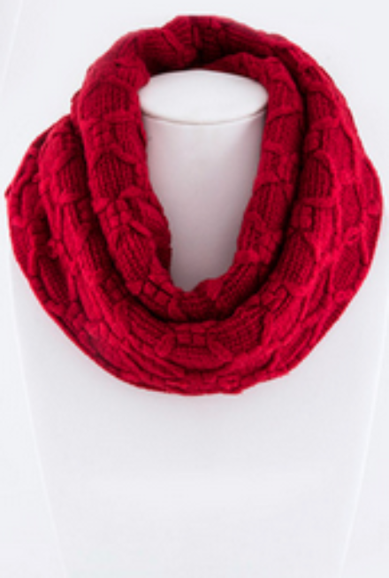 Sweet Trails Infinity Scarf - Red