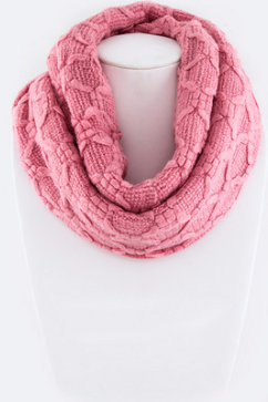 Sweet Trails Infinity Scarf - Pink