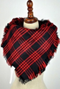 Black & Red Plaid Blanket Scarf