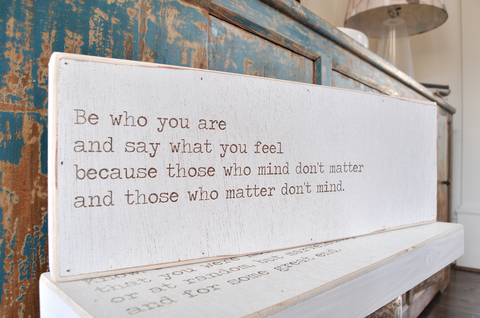 "Engraved Love Letters - ""Be who you are....."""