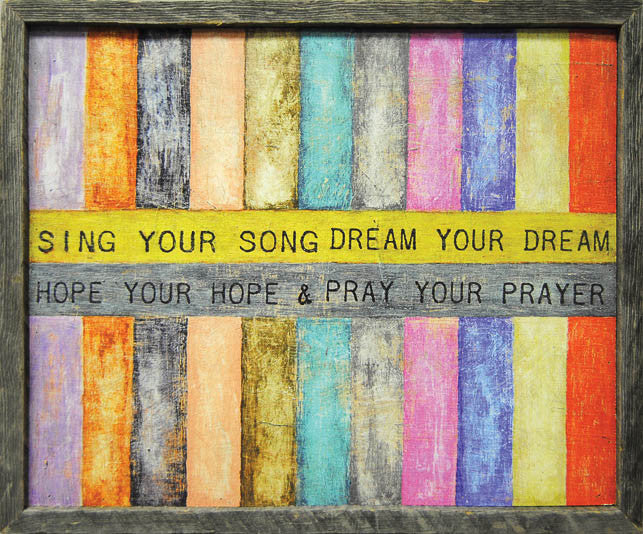 Sing Your Song Art Print - Framed