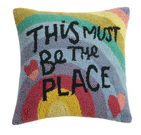"""This Must Be The Place"" Hook Pillow"