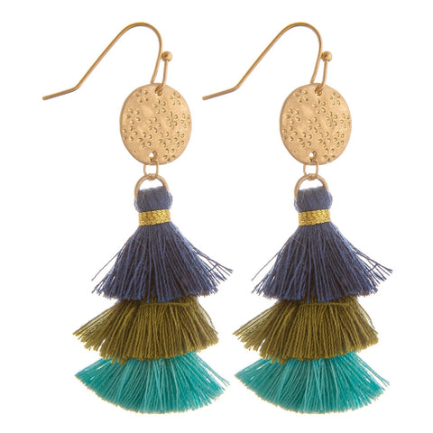 Monica Tassel Earrings - Waterfall