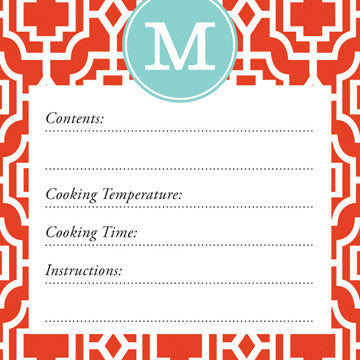 Fire Designer Lattice Vinyl Freezer Labels