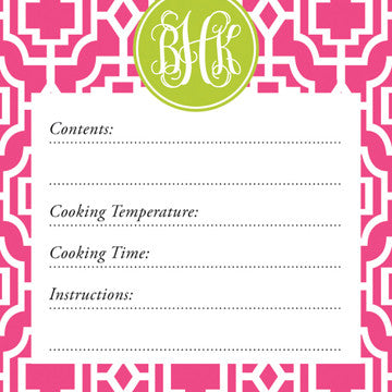 Peony Designer Lattice Vinyl Freezer Labels