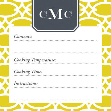Fig Fretwork Vinyl Freezer Labels