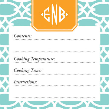 Mint Fretwork Vinyl Freezer Labels