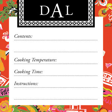 Fire Chinoiserie Vinyl Freezer Labels
