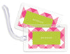 Check Pink Bag Tags - set of 4
