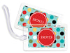 Circus Dots Violet Bag Tags - Set of 4