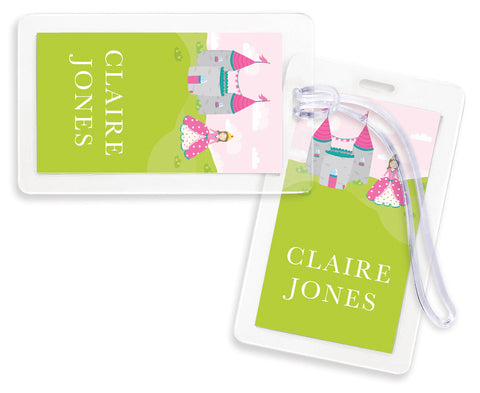 Imagination Princess Bag Tags - Set of 4